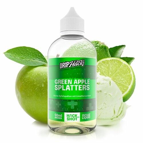 DRIP HACKS Green Apple Splatters 50ml Aroma Longfill